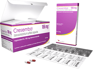 CRESEMBA 186 mg capsules and packaging
